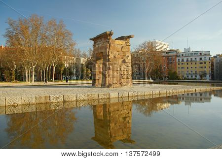 Rosaleda de Madrid Morning and the Temple of Debod