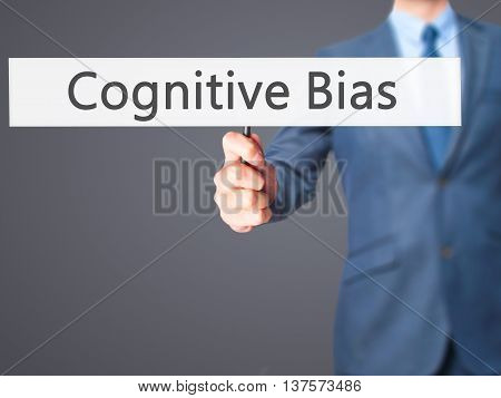 Cognitive Bias - Business Man Showing Sign