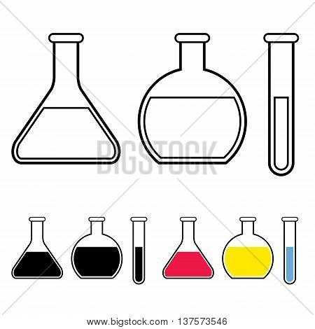 image of laboratory glassware symbol vector isolated on white