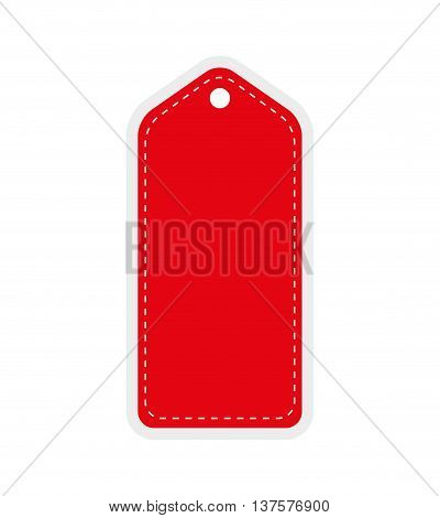 label concept represented by red tag icon. Isolated and flat illustration