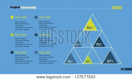 Triangle matrix diagram. Element of chart, presentation, strategy. Concept for business infographics, presentation templates, reports. Can be used for topics like analysis, strategy, analytics