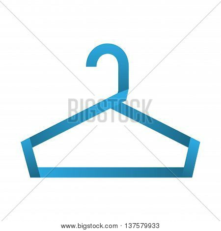 Hanger object concept represented by hook icon. Isolated and flat illustration