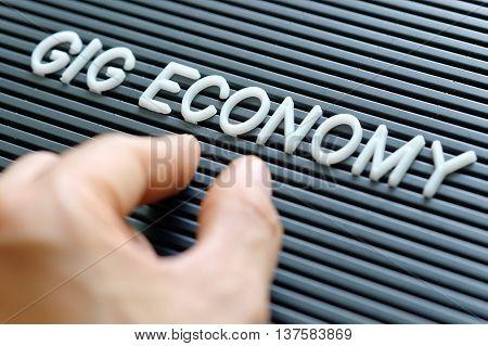 close up image of Gig Economy concept background