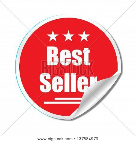 Best Seller Sticker Isolated Background Stylish Design