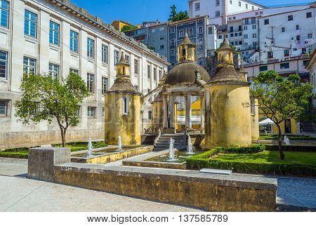 Jardim Da Manga Of Coimbra. Portugal.