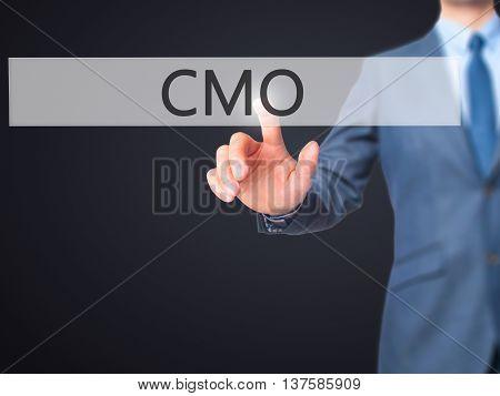 Cmo -  Businessman Click On Virtual Touchscreen.