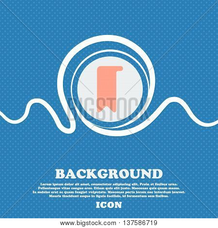 Bookmark  Sign Icon. Blue And White Abstract Background Flecked With Space For Text And Your Design.