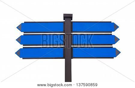 blank traffic sign for text message .