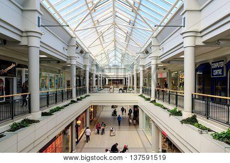 Welwyn Garden City UK - July 02 2016 - Howard Centre a shopping centre in Welwyn Garden City Hertfordshire