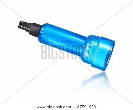 spray bottle isolated on white background .