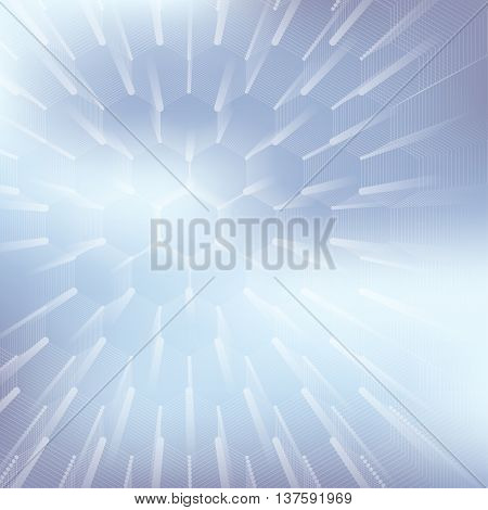 Abstract geometric background, hexagonal vector texture. Big data visualization and communication background. Graphic background social networking. Vector illustration