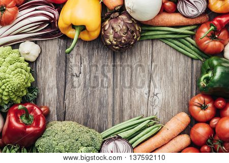 Fresh Vegetables Frame