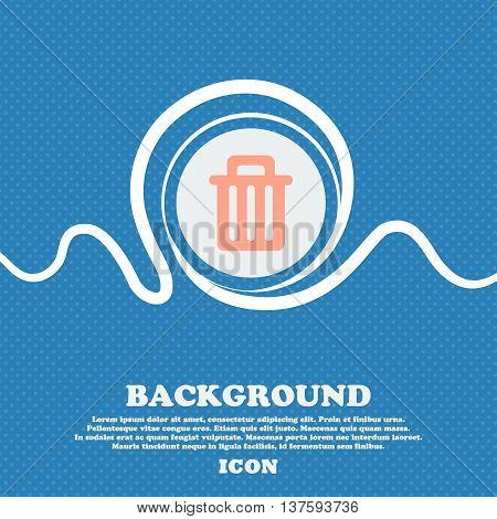 Recycle Bin Sign Icon. Blue And White Abstract Background Flecked With Space For Text And Your Desig