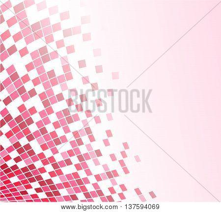 Illustration of pink design modern vector background