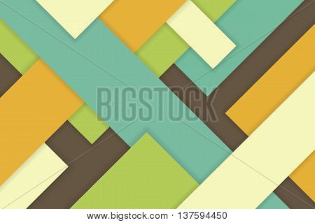 Abstract vector colorful square material with shadow. Background for website phone print and interface.