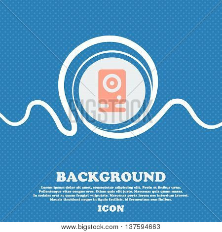 Web Cam Sign Icon. Blue And White Abstract Background Flecked With Space For Text And Your Design. V