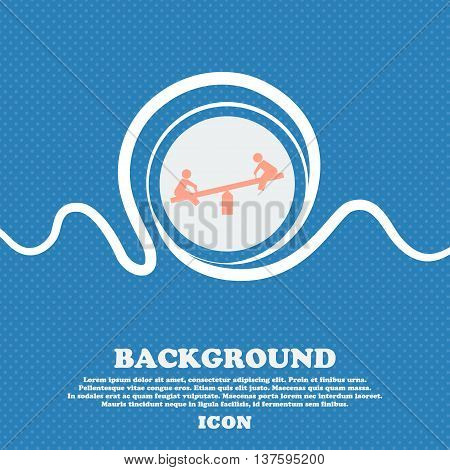 Swing Sign Icon. Blue And White Abstract Background Flecked With Space For Text And Your Design. Vec