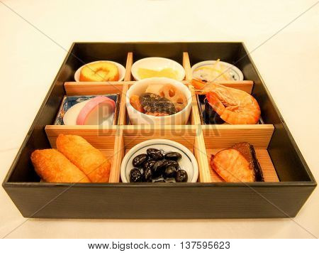 Japanese new year bento, or lunch box
