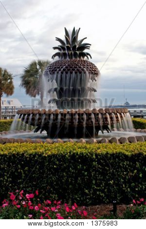 Pineapple Fountain In Charleston SC