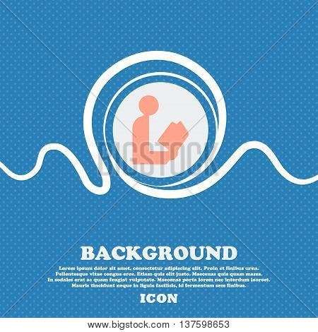 Read A Book Sign Icon. Blue And White Abstract Background Flecked With Space For Text And Your Desig