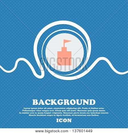 Tower Icon. Set Flat Modern. Blue And White Abstract Background Flecked With Space For Text And Your