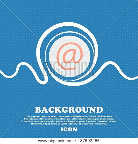 Commercial At. Set Flat Modern. Blue And White Abstract Background Flecked With Space For Text And Y