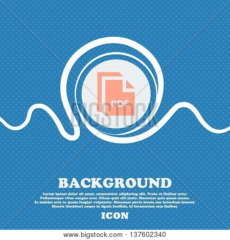 File Pdf Sign Icon. Blue And White Abstract Background Flecked With Space For Text And Your Design.
