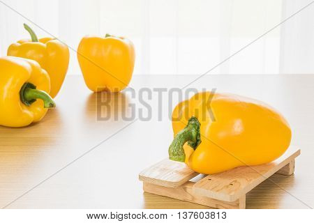 Bell Peppers Wood Tray
