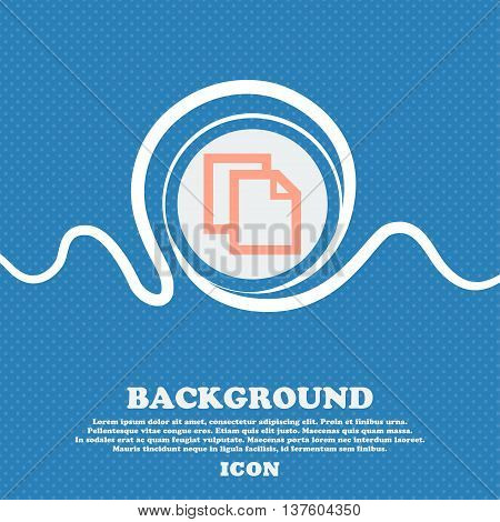 Edit Document Sign Icon. Content Button.. Blue And White Abstract Background Flecked With Space For