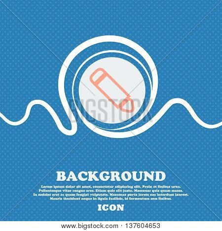 Pen Sign Icon. Blue And White Abstract Background Flecked With Space For Text And Your Design. Vecto