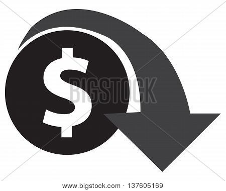 Dollar Decrease Icon reduction finance symbol computer icon vector icon