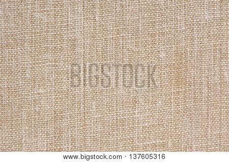 A macro shot of natural sackcloth texture