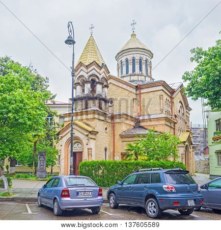 BATUMI GEORGIA - MAY 24 2016: The Surb Prkich Armenian Apostolic church is the notable religious landmark of the city on May 24 in Batumi.