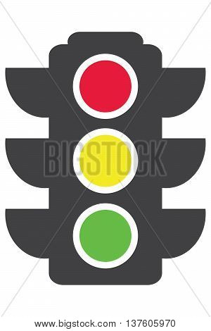 traffic light icon stoplight symbol control vector green color