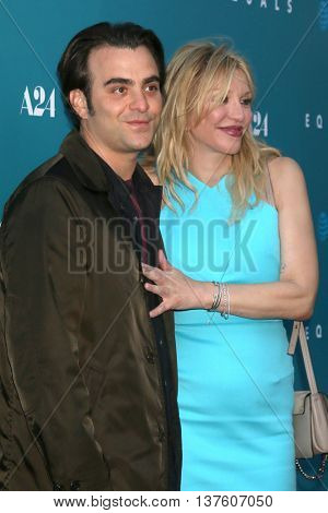LOS ANGELES - JUL 7:  Nicholas Jarecki, Courtney Love at the Equals LA Premiere at the ArcLight Hollywood on July 7, 2016 in Los Angeles, CA