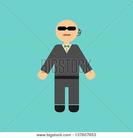 flat icon on stylish background poker male guard