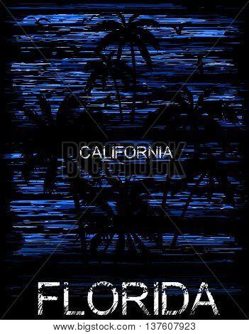 Summer tee graphic design florida california fashion style