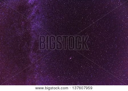 Night sky with lot of shiny stars, natural abstract astro background