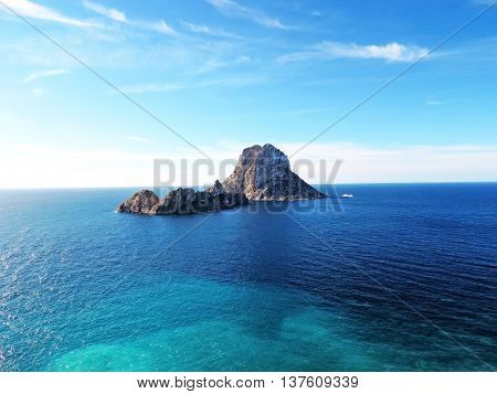 Magic rock of Ibiza. Es Vedra and Es Vedranell.