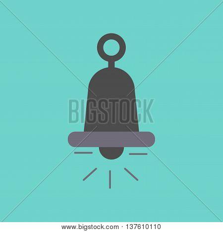 flat icon on stylish background bell ringer