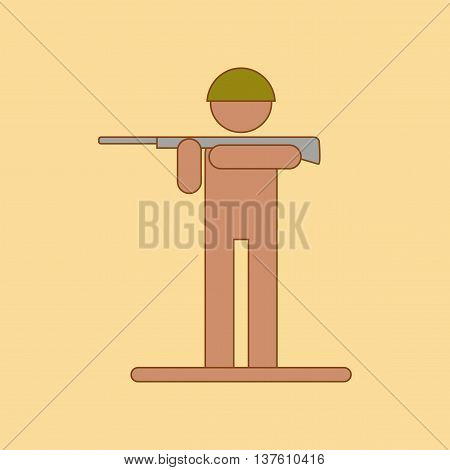 flat icon on stylish background Kids military soldier