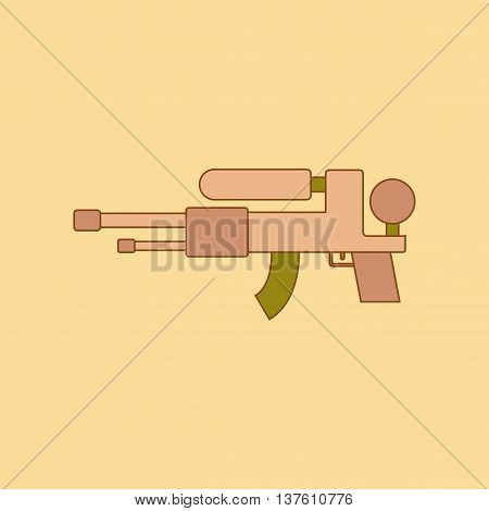 flat icon on stylish background Kids toy water gun