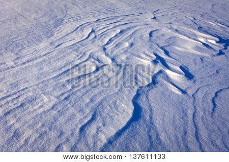 snow surface - abstract winter background