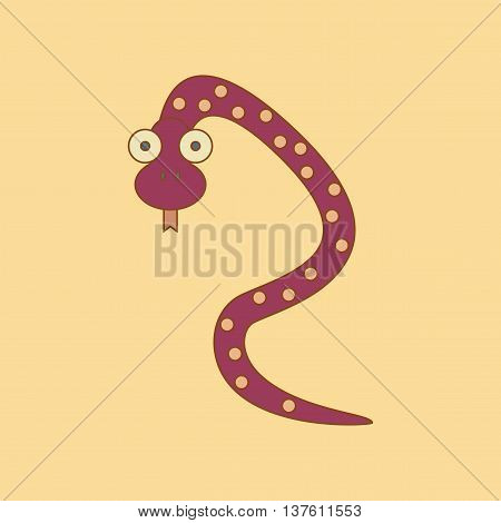 flat icon on stylish background Kids toy snake, vector illustration