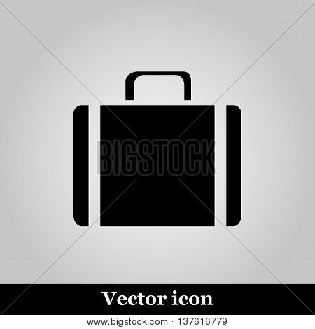 Icons suitcase  on grey background, vector illustration.