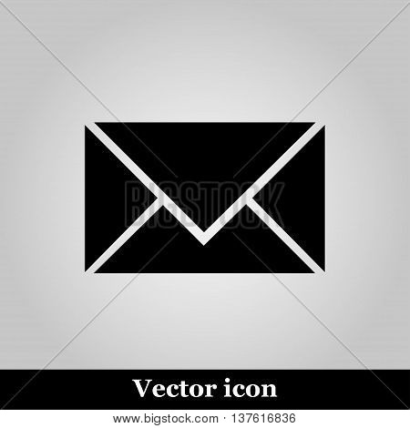 postal envelope sign on grey background, vector illustration