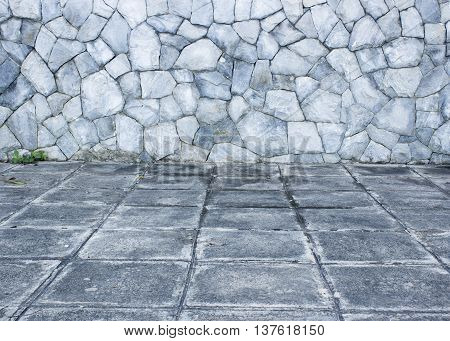 The background of stone wall texture photo