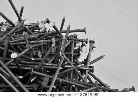 A pile of nails 60 mm. Nails.