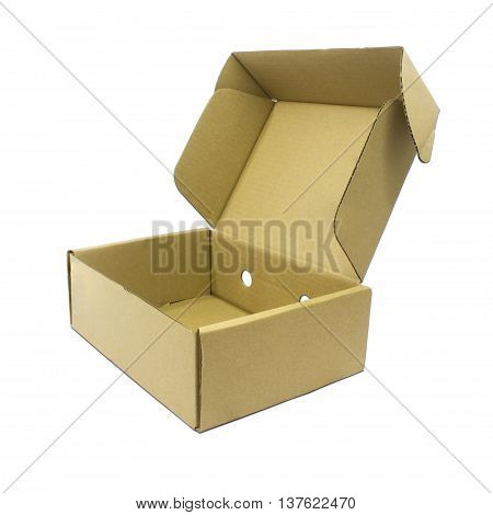 The Cardboard box isolate on white background