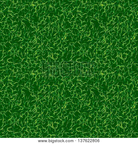 Green color grass vector background. Fresh spring lawn vector illustration. Natural environment backdrop. Soccer football texture image
